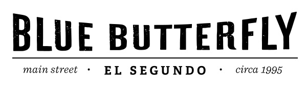 blue blutterfly logo type