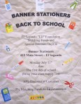 Banner Stationers 2016 Back to School Flyer