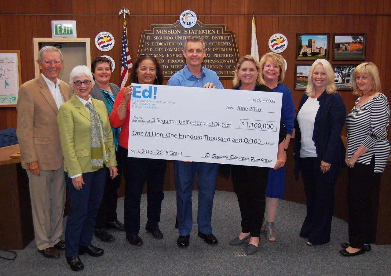 FY16 Final Check Presentation to ESUSD